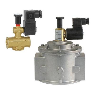 Электромагнитный газовый клапан EVGNA Ду15…200мм нормально-открытый