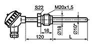 ТП 008 тип D общепромышленного исполнения с подвижным штуцером