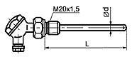 ТП 008 тип F общепромышленного исполнения с неподвижным штуцером