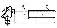 ТП 008 тип P с керамическим защитным чехлом