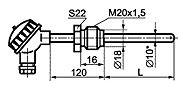 ТС012-D ТС общепромышленного исполнения с неподвижным штуцером