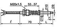 ТС-012I термометры сопротивления для измерения температуры поверхности твердых тел