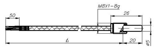 Термопреобразователи сопротивления ТСМ-1388, ТСП-1388, рисунок 1