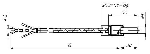 Термопреобразователи сопротивления ТСМ-1388, ТСП-1388, рисунок 2