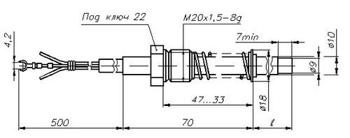 Термопреобразователи сопротивления ТСМ-1388, ТСП-1388, рисунок 3