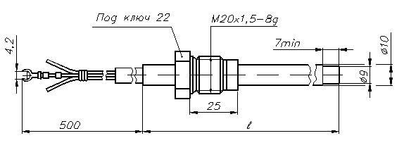 Термопреобразователи сопротивления ТСМ-1388, ТСП-1388, рисунок 4