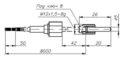 Термопреобразователи сопротивления ТСМ-1388, ТСП-1388, рисунок 5