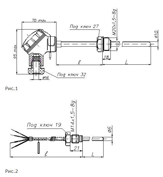 Конструктивные исполнения (рисунки) комплекта ТСПР-0490-100П