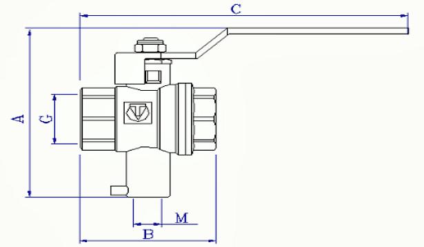 Схема2. Шаровой кран VT.247.N