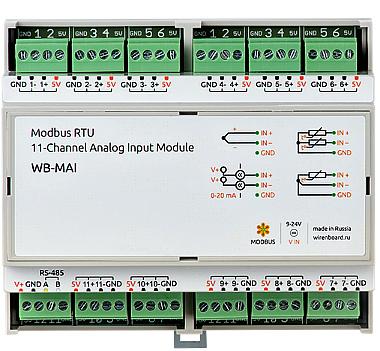 Модуль аналогового ввода WB-MAI