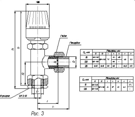 Терморегуляторы радиаторные Комфорт-15,-20,-25