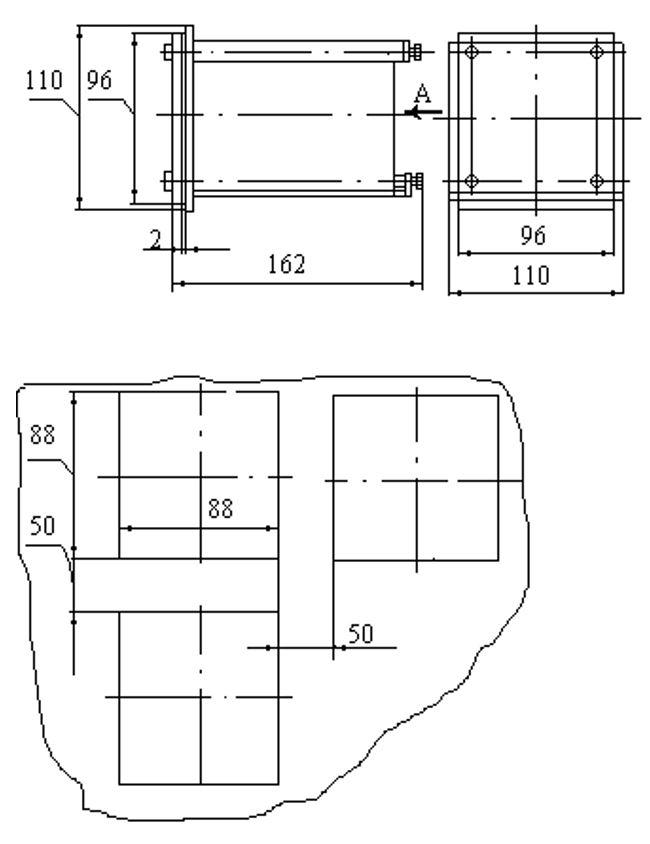 Габаритные размеры блока БИТ-300М