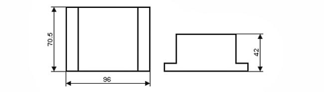 Габариты. БПРС – блок питания и разветвления сигналов 4-20мА на два