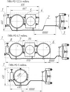 Габаритные размеры индикатора веса ГИВ6-М2