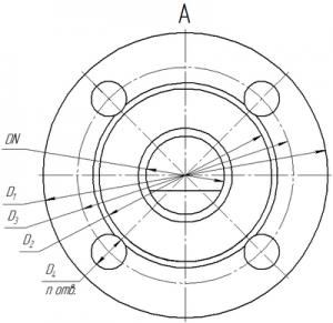 Присоединительные размеры клапанов КР-1