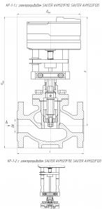 Габаритные размеры-1 клапана КР-1