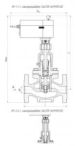Габаритные размеры-2 клапана КР-1