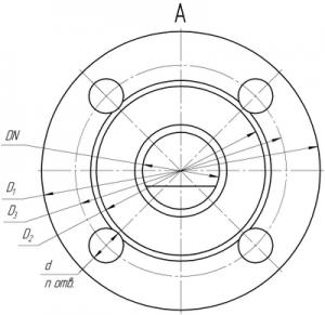 Присоединительные размеры трехходового клапана КР-1-ТР