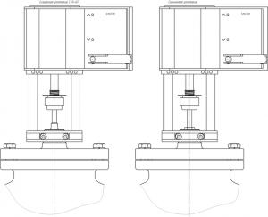 Габаритные размеры-4 клапана КР-1-ТР