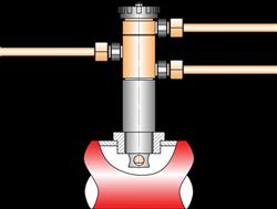 Схема подключения ПТ-1-1 для управления нормально-закрытым (НЗ) регулирующим клапаном