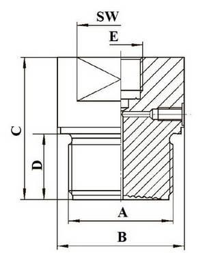 Габаритные размеры разделителя сред DF-CL/CM