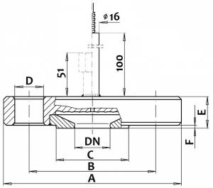 Габаритные размеры мембранного разделителя сред DK-WI/CI