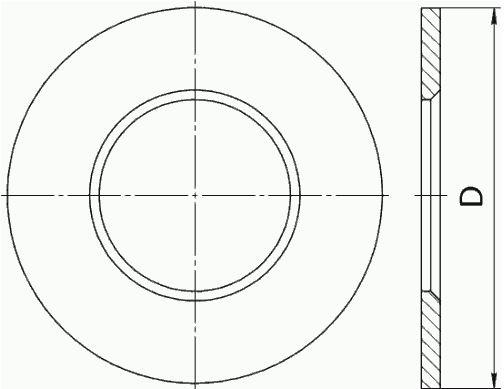 Габаритные размеры диафрагмы ДВС-32-Б