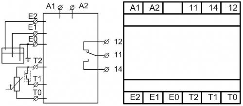 Схема подключения реле уровня РКУ-1М-ЭкМ