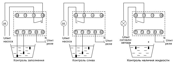 Принципиальная схема датчика-реле уровня РКУ-1М-РА