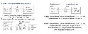 Схемы соединений термопреобразователей УТП-, УТС-104...232