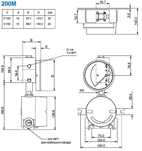Схема. Взрывозащищённые дифманометры ЭКД-100НА-200М