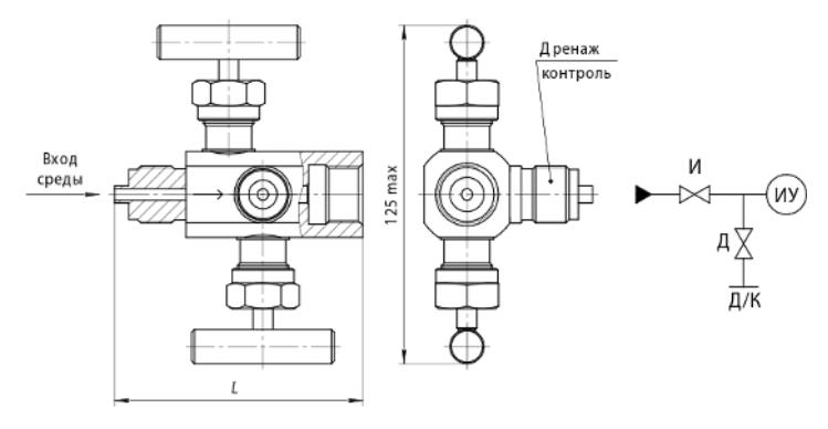 Клапанный блок БКН2 габаритные размеры