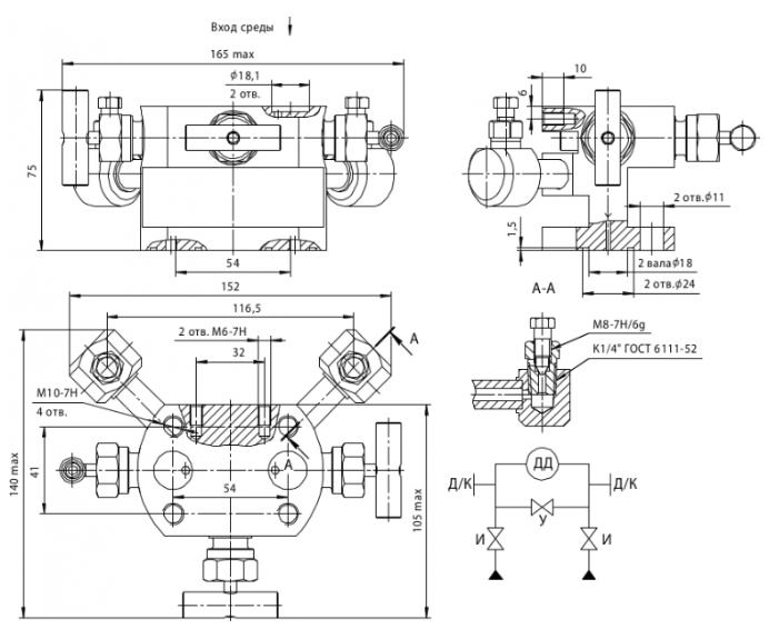 БКН3-4-10 Габаритные размеры