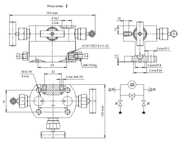 БКН3-4-11 габаритные размеры
