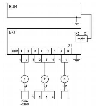 Схема подключений БКТ и БЦИ