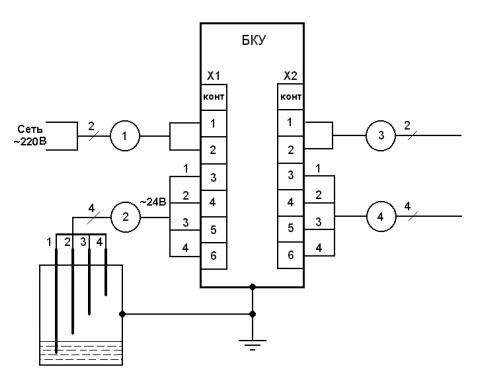 Схема подключений БКУ