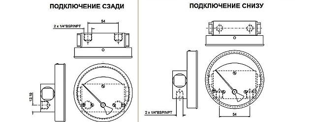 Схема1. Взрывозащищённый дифманометр ЭКД-100НА/160НА/80НА-200М/300М