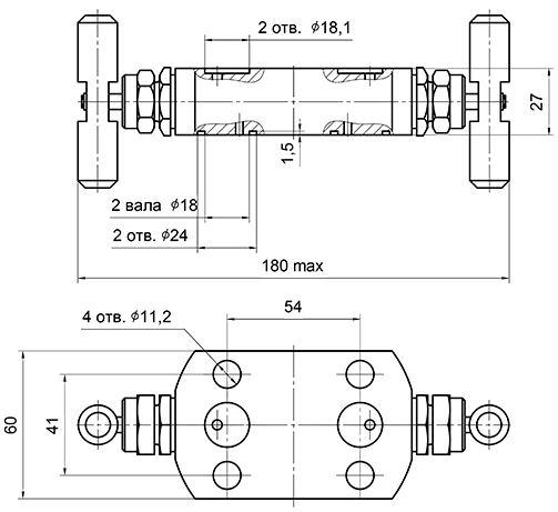 Схема блока клапанного ВБ 08 852 089