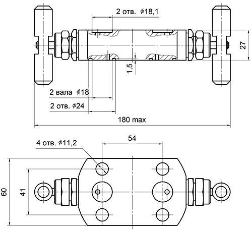 Блок клапанный для атомных станций Вентиль 08 852 089-АС