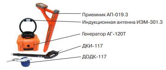 Комплект кабелетрассоискателя Атлет-АГ-319-К-СКИ