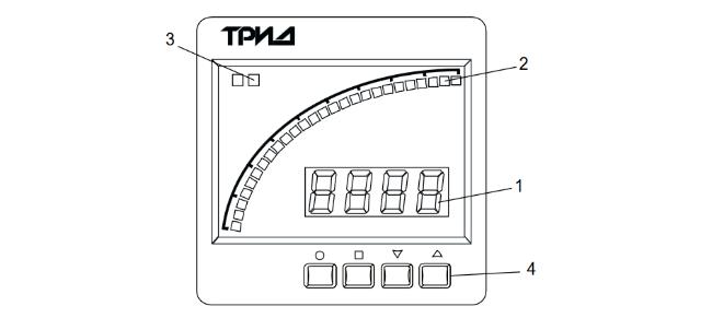 Схема. Тахометр-сигнализатор ТРИД-ТХС-332,-342-1В