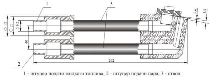 Форсунки паровые щелевого типа 19-01-06-500