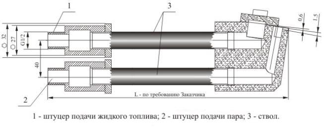 Форсунки паровые щелевого типа ФПЩ