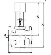 Габаритные размеры клапана КССР-100