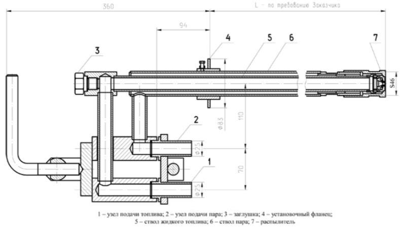 ПМФ-Б1 форсунки паромеханические паромазутные и пневматические