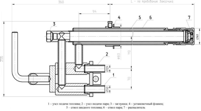 ПМФ-Б2 форсунки паромеханические паромазутные и пневматические