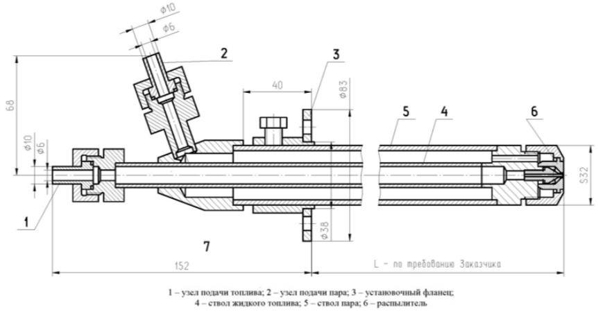 Т-20ДТ форсунки паромеханические паромазутные и пневматические