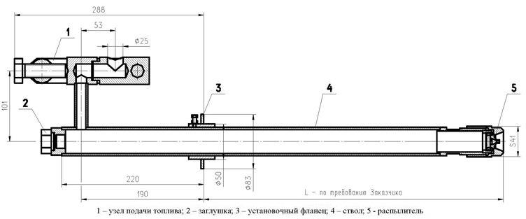 ТФ-А1 форсунки механические типа ТФ для жидкого топлива