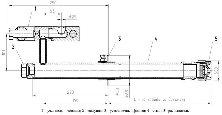 ТФ-А2 форсунки механические типа ТФ для жидкого топлива