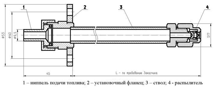 Форсунки механические типа ТФ для жидкого топлива